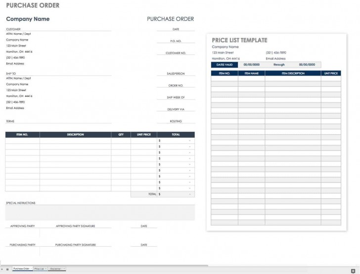 002 Wonderful Purchase Order Excel Template Design  Vba Download Free728