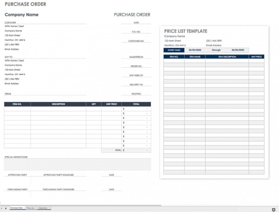 002 Wonderful Purchase Order Excel Template Design  Vba Download Free960