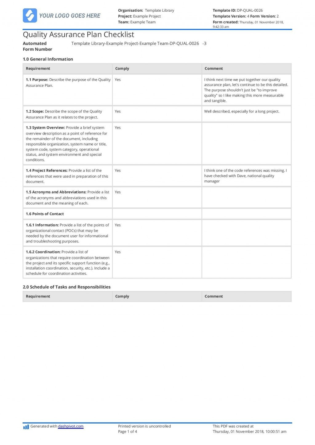 002 Wonderful Quality Management Plan Template Design  Templates Sample Pdf ConstructionLarge