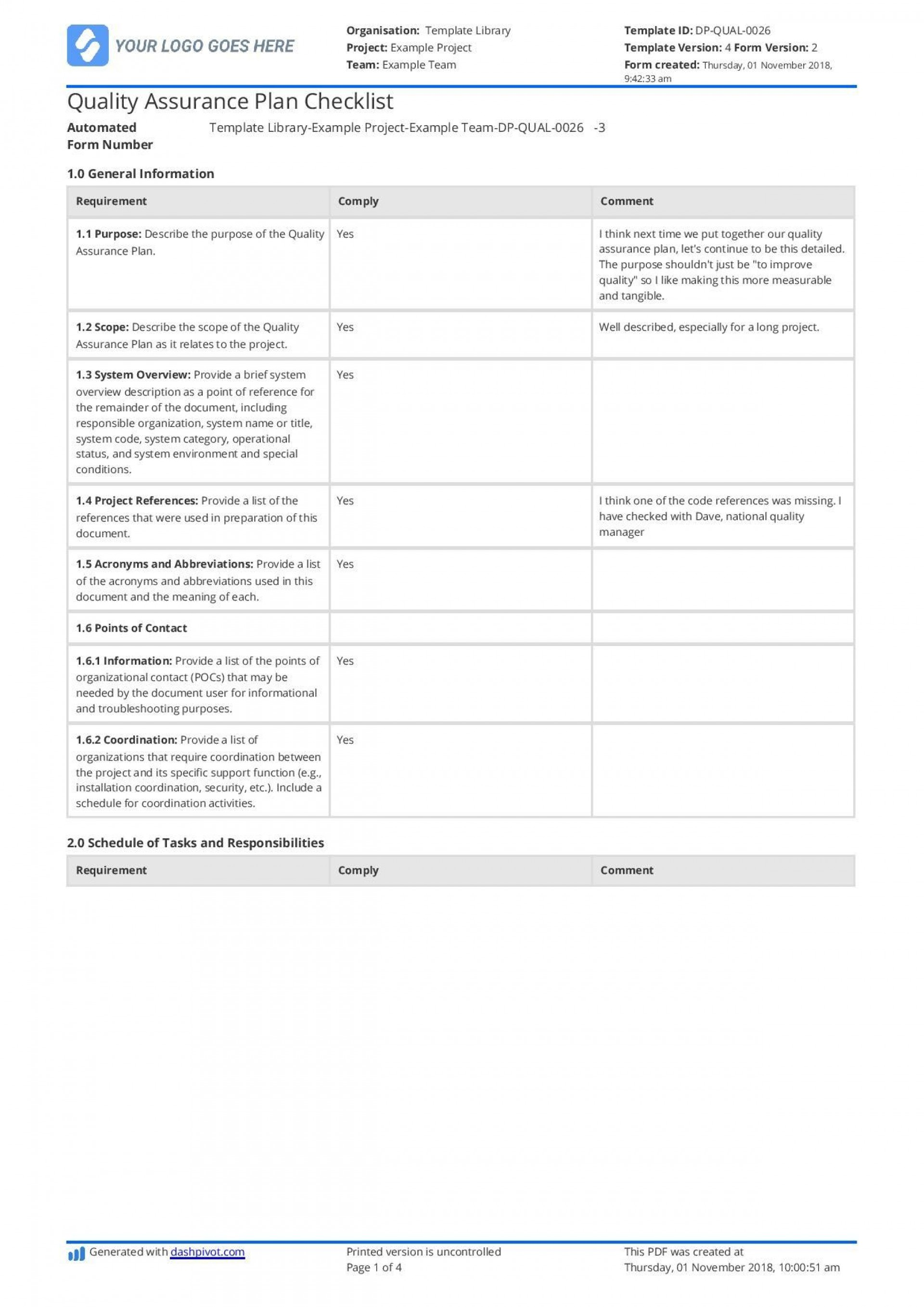 002 Wonderful Quality Management Plan Template Design  Sample Pdf Example In Construction Doc1920