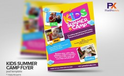 002 Wonderful Summer Camp Flyer Template Image  Day Microsoft Word Background
