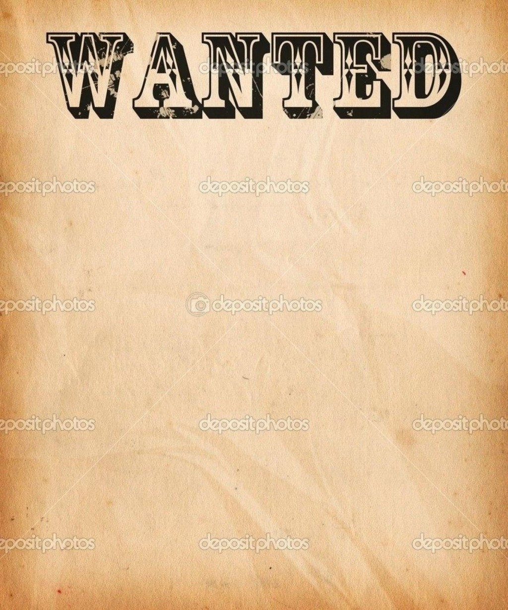 002 Wonderful Wanted Poster Template Free Printable Concept  MostLarge