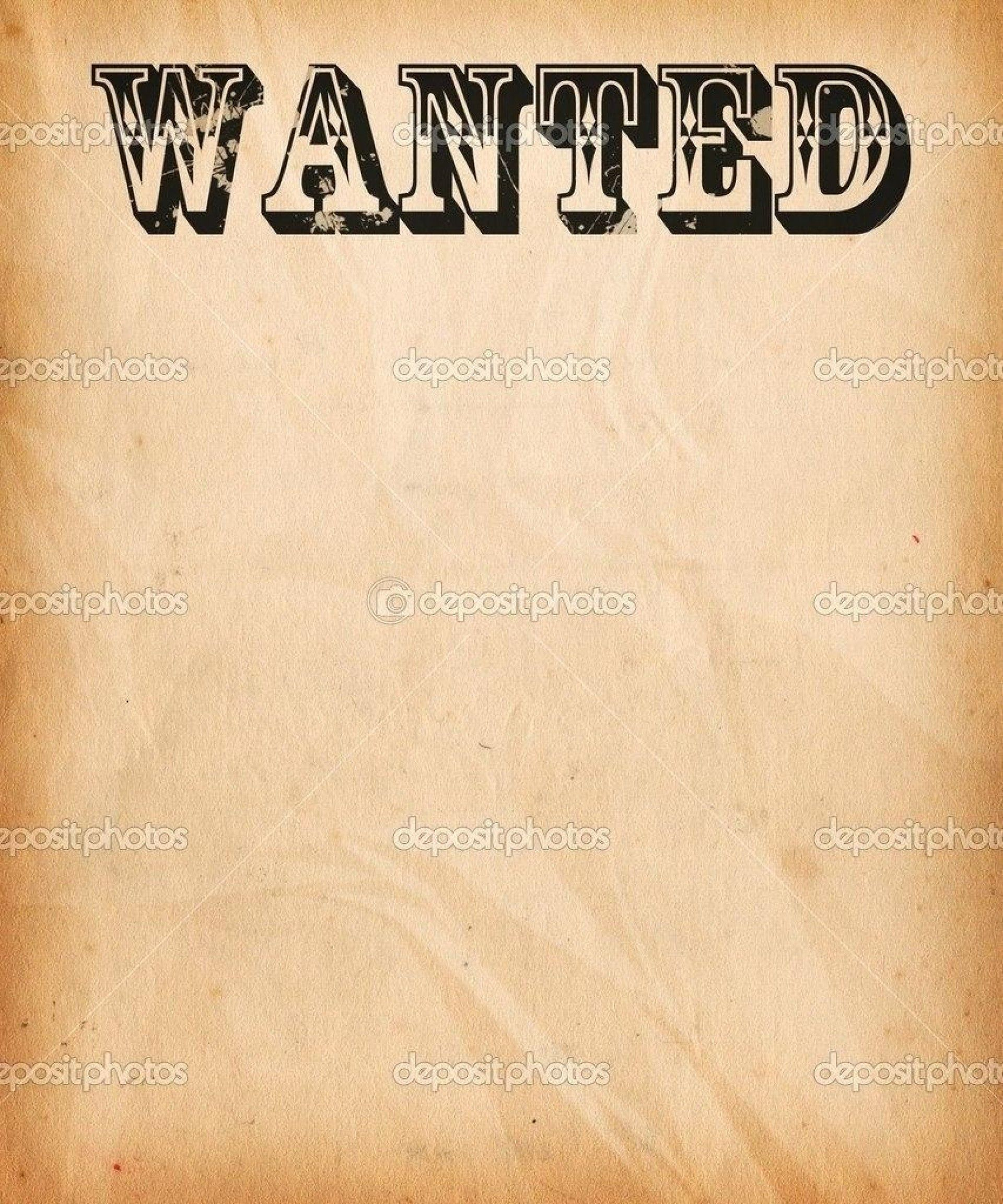 002 Wonderful Wanted Poster Template Free Printable Concept  MostFull