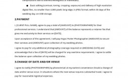 002 Wonderful Wedding Photography Contract Template Pdf Example