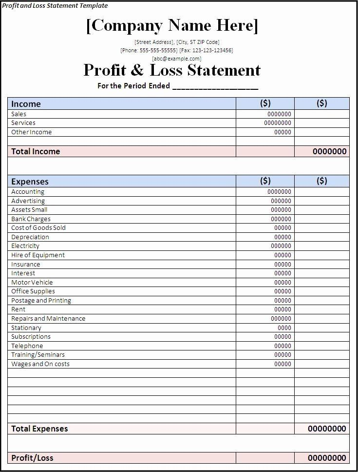 002 Wondrou Basic Profit And Los Template Image  Simple For Self Employed ExcelFull