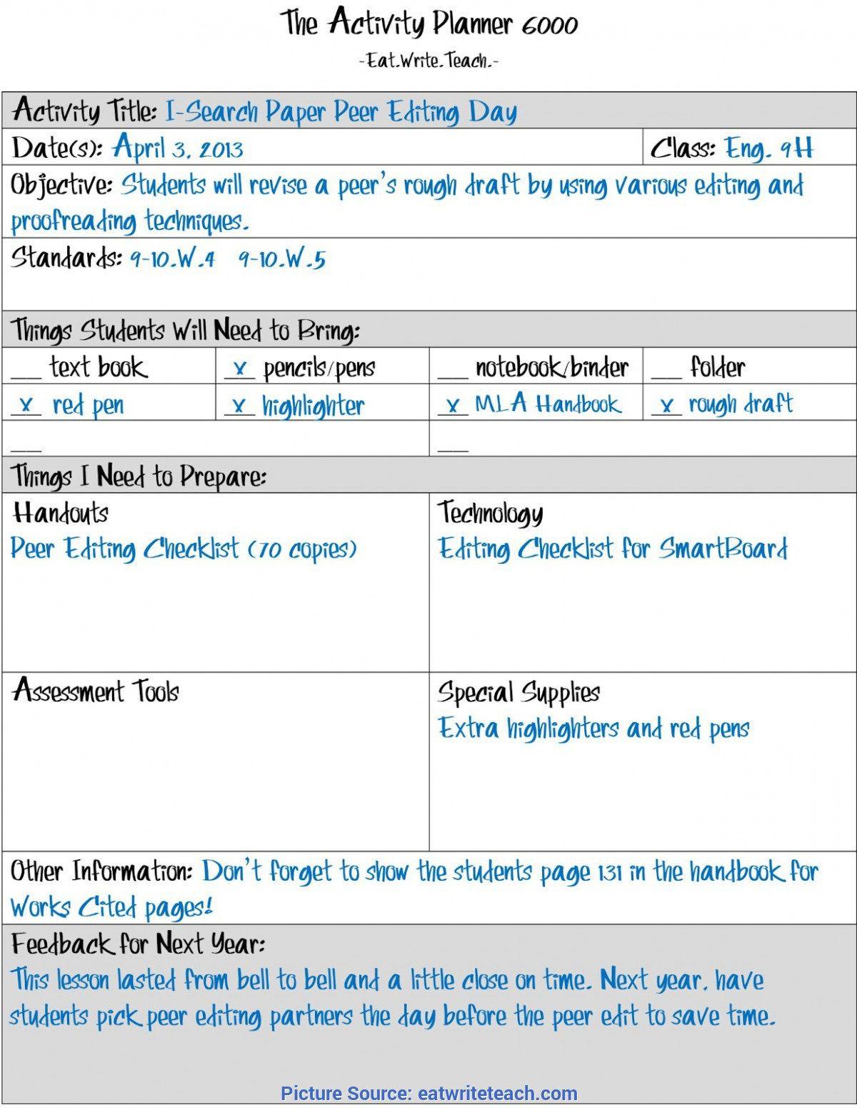 002 Wondrou Best Lesson Plan Template Highest Quality  Practice Format PdfFull