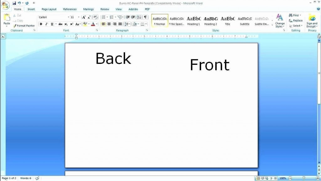 002 Wondrou Busines Card Template Microsoft Word 2010 High Def Large