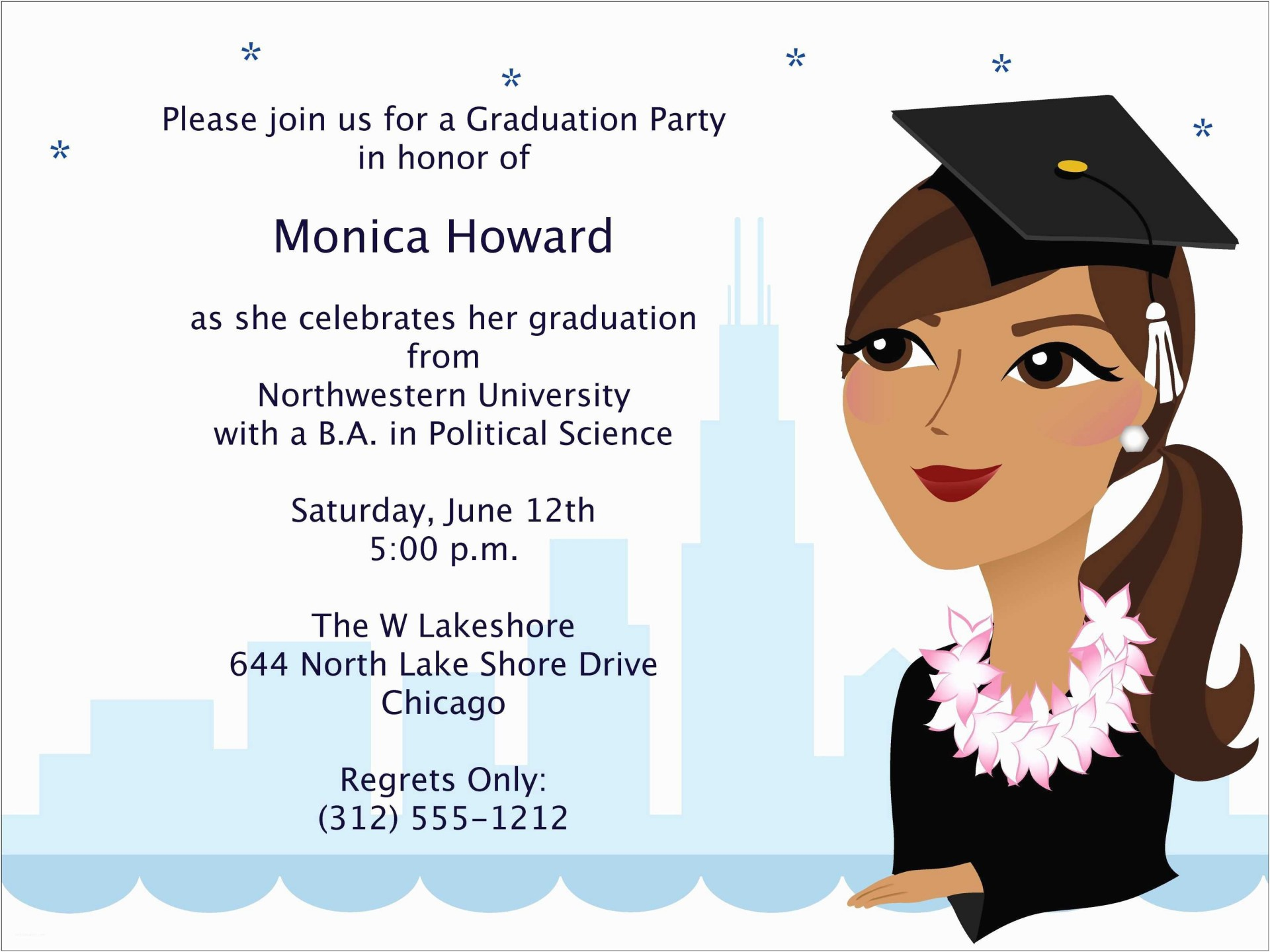 002 Wondrou College Graduation Party Invitation Template High Definition  Templates1920