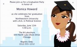 002 Wondrou College Graduation Party Invitation Template High Definition  Templates