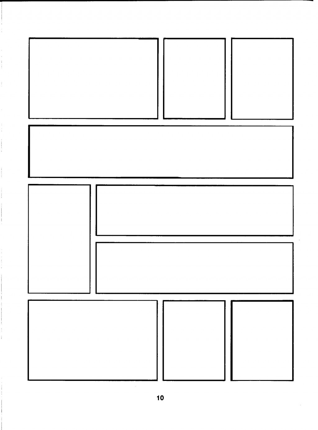 002 Wondrou Comic Strip Layout For Word Inspiration  Book Script Template Microsoft DocLarge