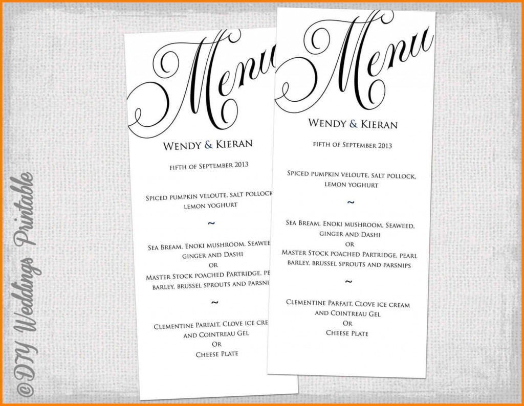 002 Wondrou Dinner Party Menu Template Picture  Card Free Italian WordLarge