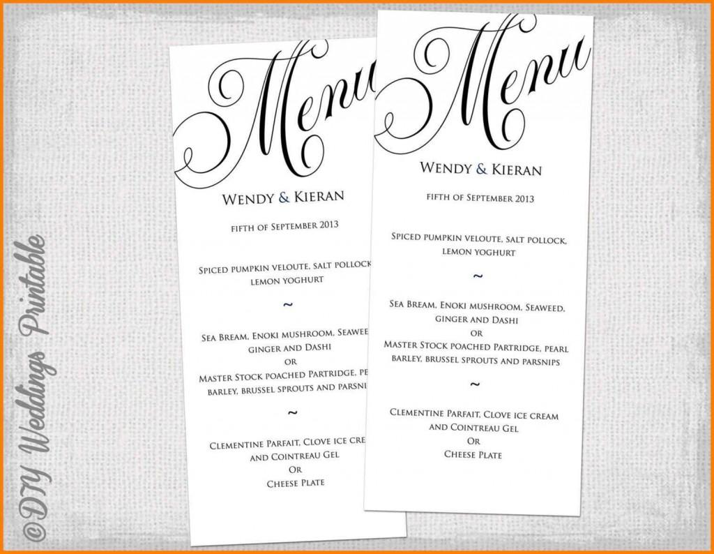 002 Wondrou Dinner Party Menu Template Picture  Word Elegant Free Google DocLarge