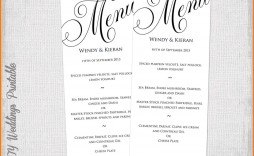 002 Wondrou Dinner Party Menu Template Picture  Card Free Italian Word