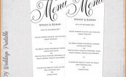 002 Wondrou Dinner Party Menu Template Picture  Word Elegant Free Google Doc