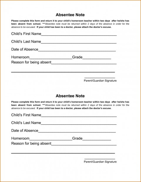 002 Wondrou Doctor Excuse Template For Work Image  Missing Note480
