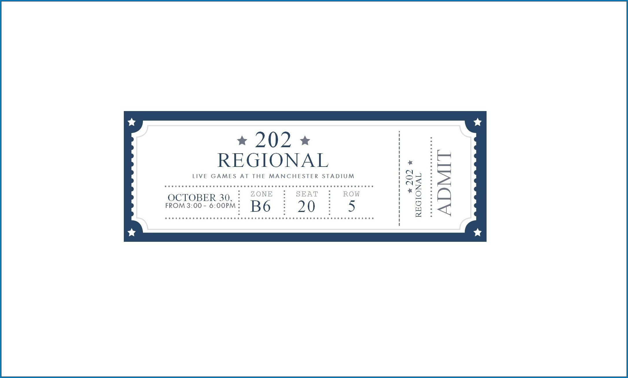 002 Wondrou Editable Ticket Template Free High Definition  Word Airline RaffleFull