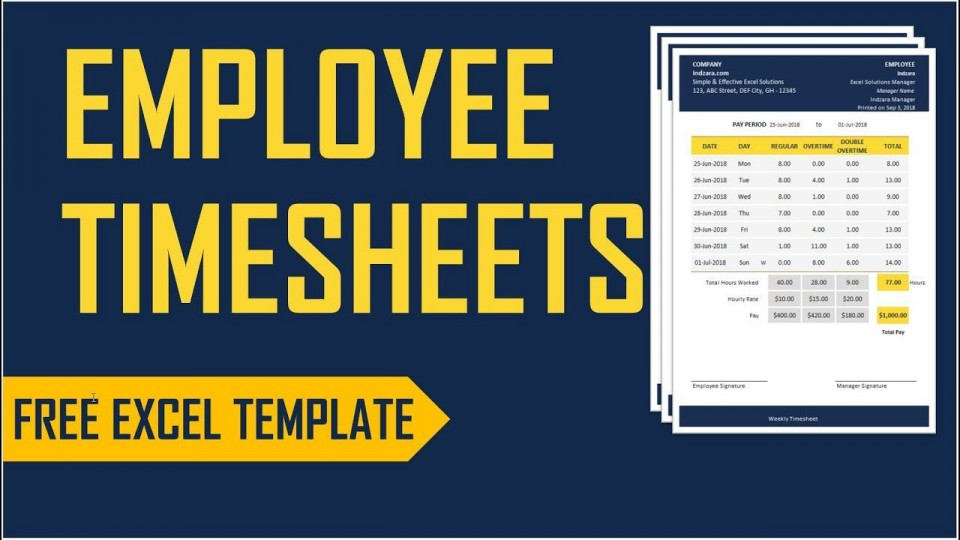 002 Wondrou Employee Time Card Calculator Excel Template Picture 960