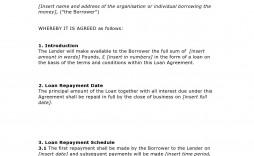 002 Wondrou Family Loan Agreement Template Pdf Uk Design