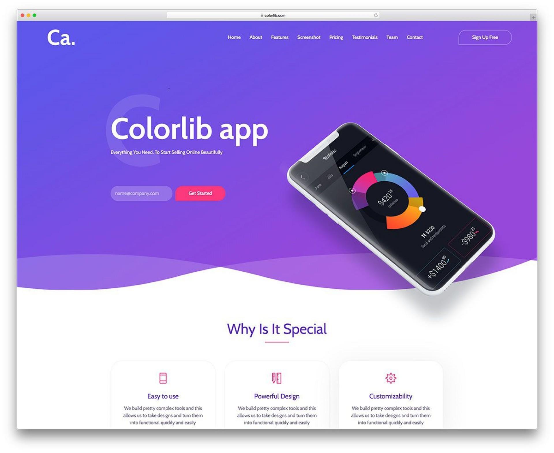 002 Wondrou Free Landing Page Template Bootstrap Concept  3 Html5 20191920