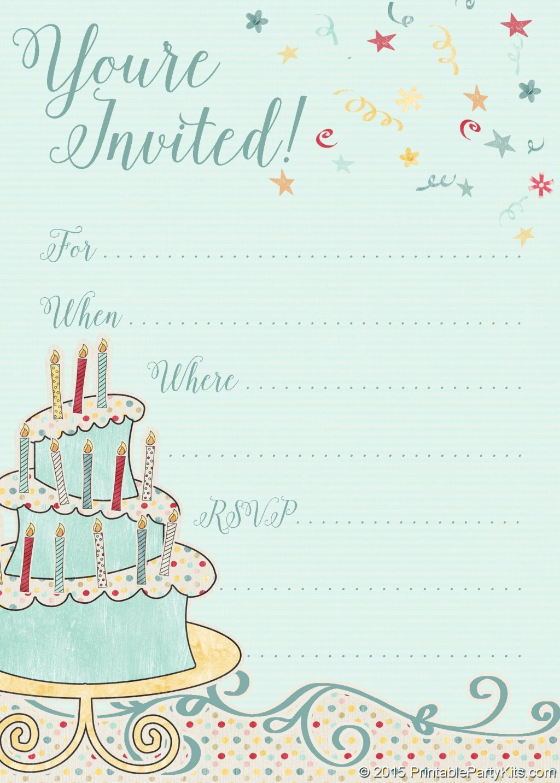002 Wondrou Free Online Printable Birthday Invitation Template Inspiration  Templates Card MakerLarge