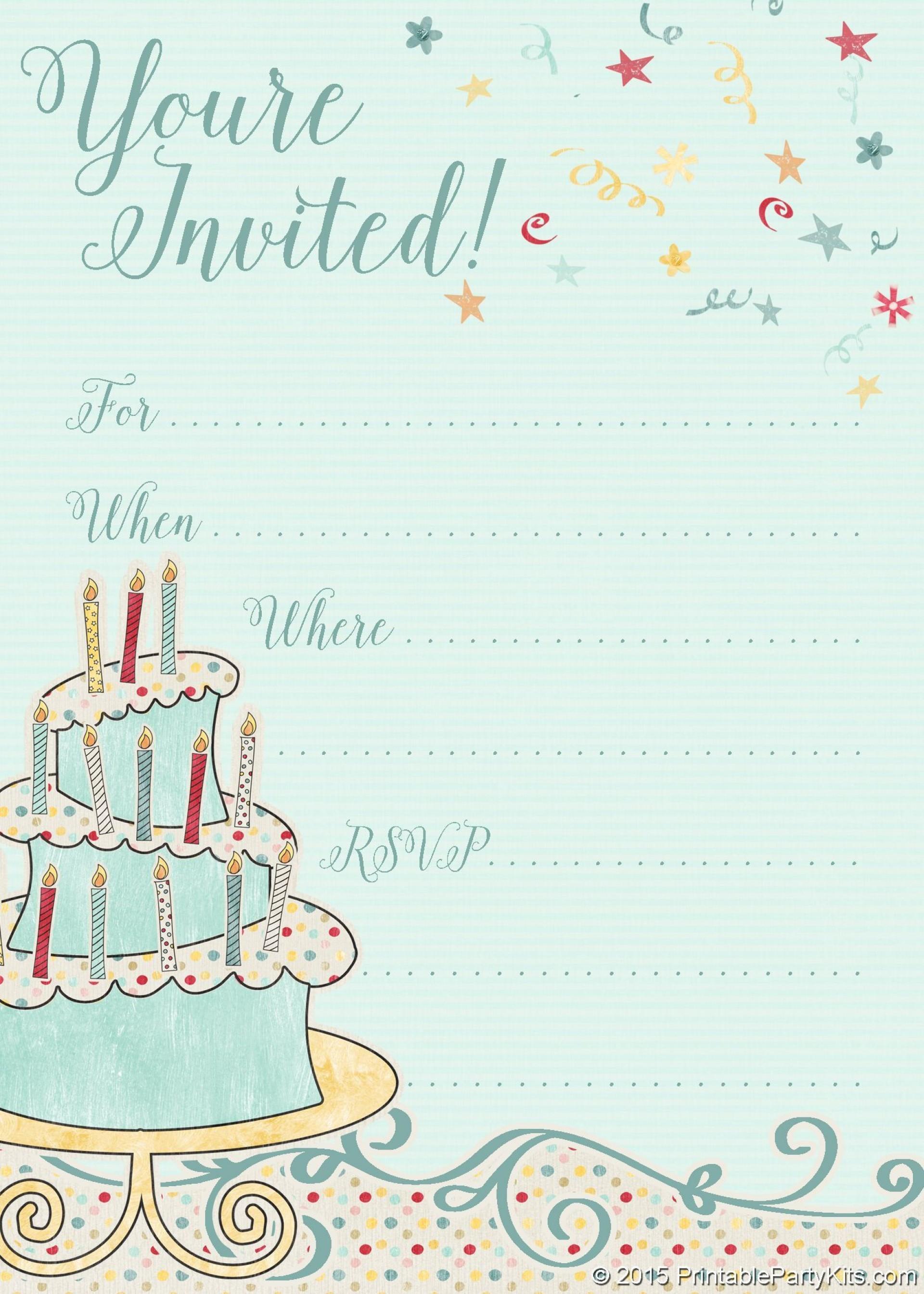 002 Wondrou Free Online Printable Birthday Invitation Template Inspiration  Templates Card Maker1920
