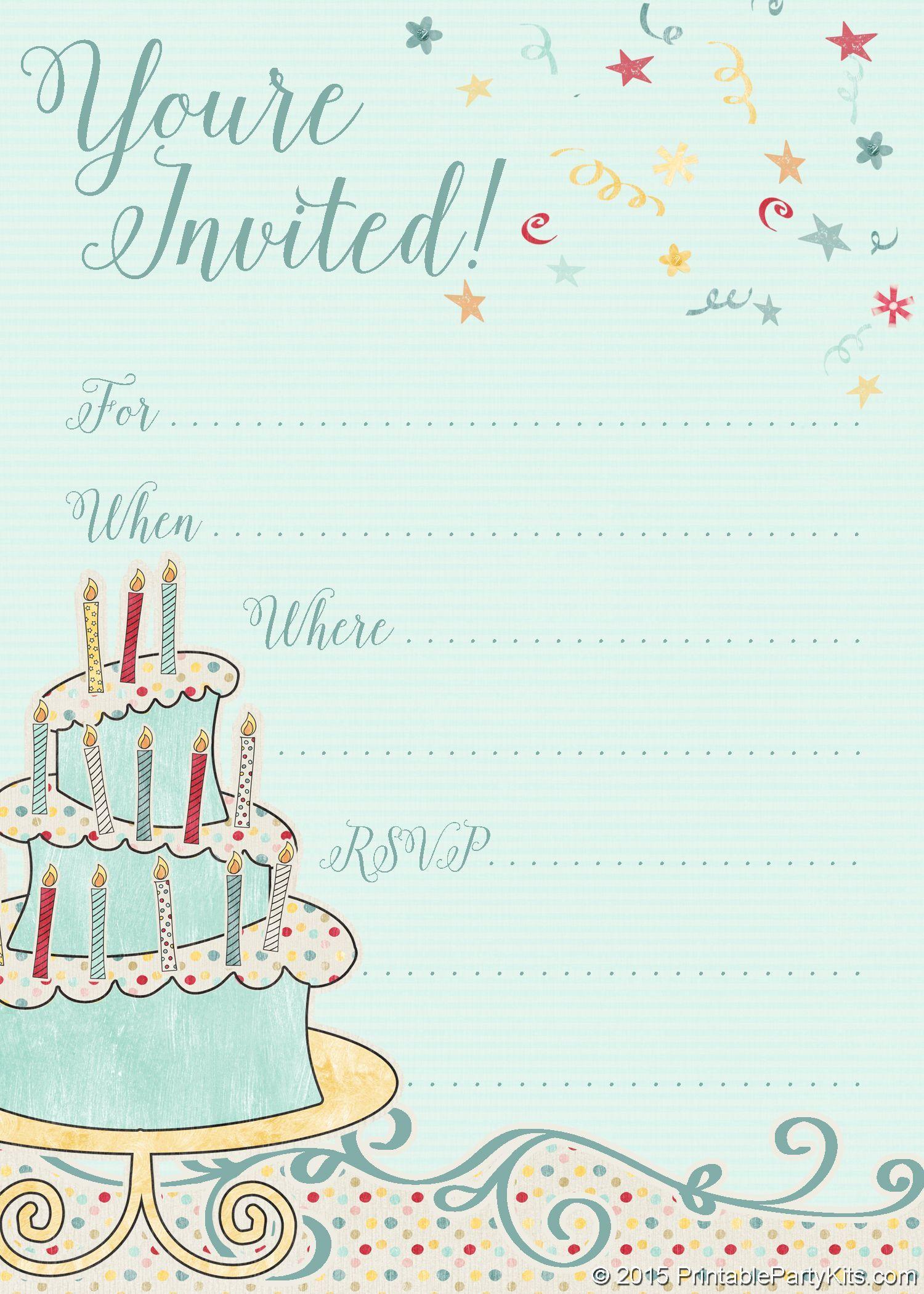 002 Wondrou Free Online Printable Birthday Invitation Template Inspiration  Templates Card MakerFull
