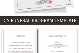 002 Wondrou Free Printable Celebration Of Life Program Template Highest Quality