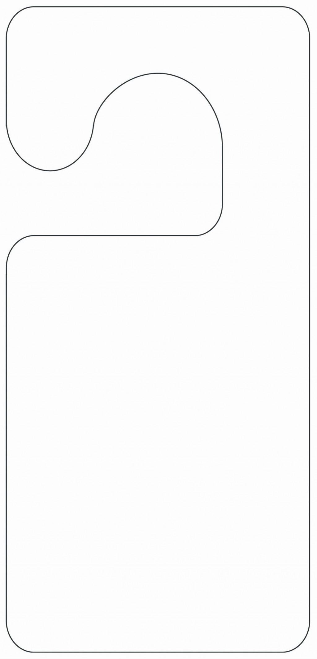 002 Wondrou Free Printable Template For Door Hanger Sample Large