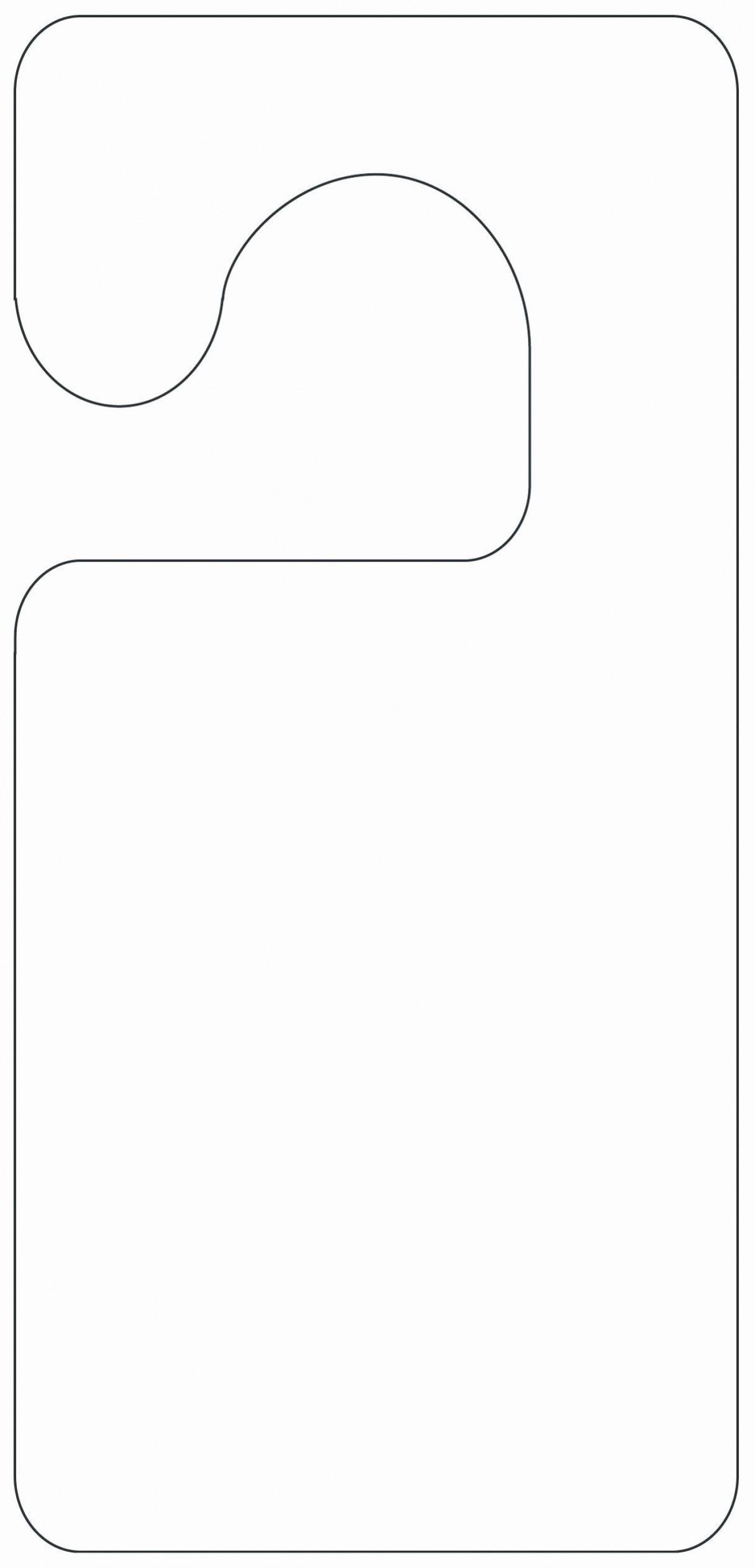 002 Wondrou Free Printable Template For Door Hanger Sample 1400