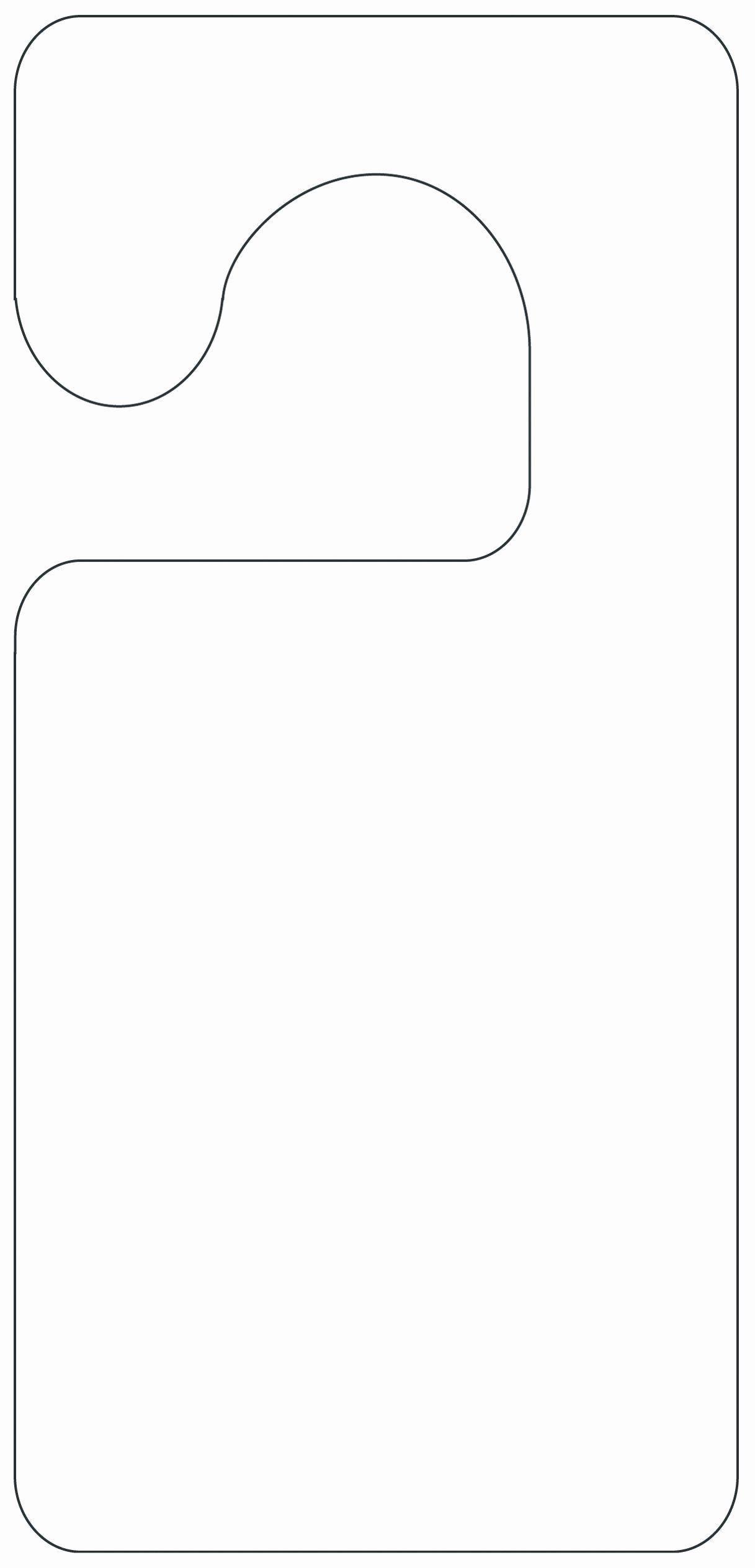 002 Wondrou Free Printable Template For Door Hanger Sample Full