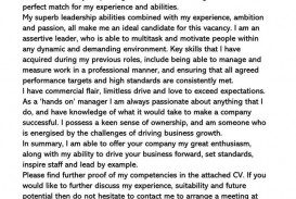 002 Wondrou General Manager Cover Letter Template Inspiration  Hotel