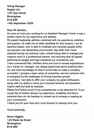 002 Wondrou General Manager Cover Letter Template Inspiration  Hotel320
