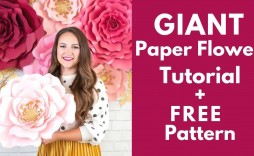 002 Wondrou Giant Rose Paper Flower Template Free Highest Clarity
