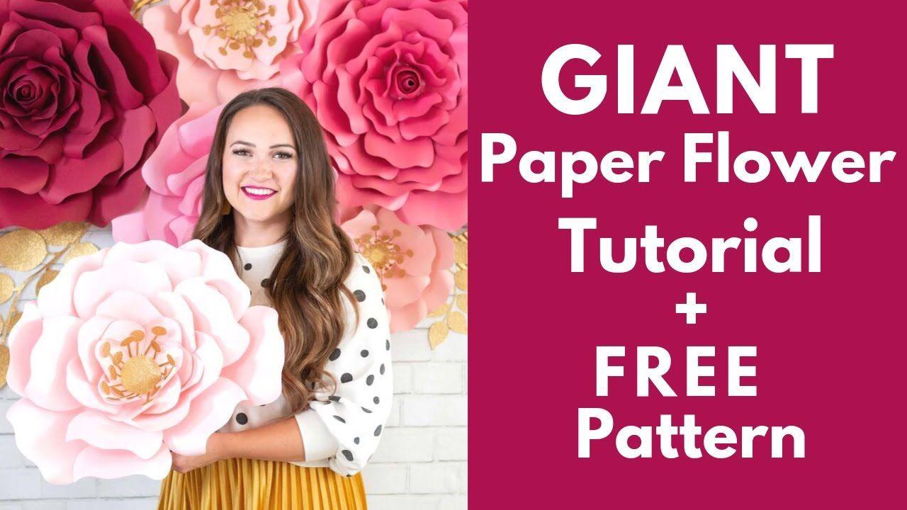 002 Wondrou Giant Rose Paper Flower Template Free Highest Clarity Full