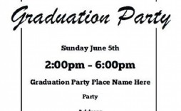 002 Wondrou Graduation Party Invitation Template Sample  Templates 4 Per Page Free Reception
