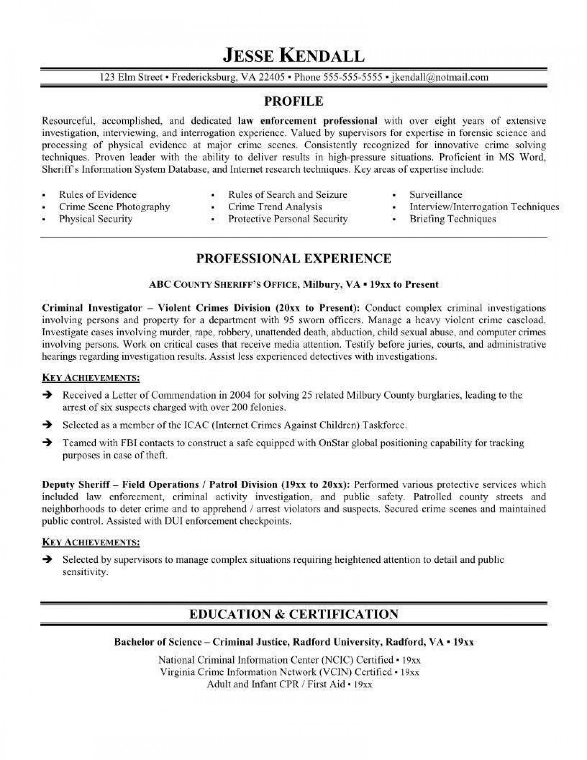002 Wondrou Law Enforcement Resume Template Highest Clarity  Federal Promotion1920