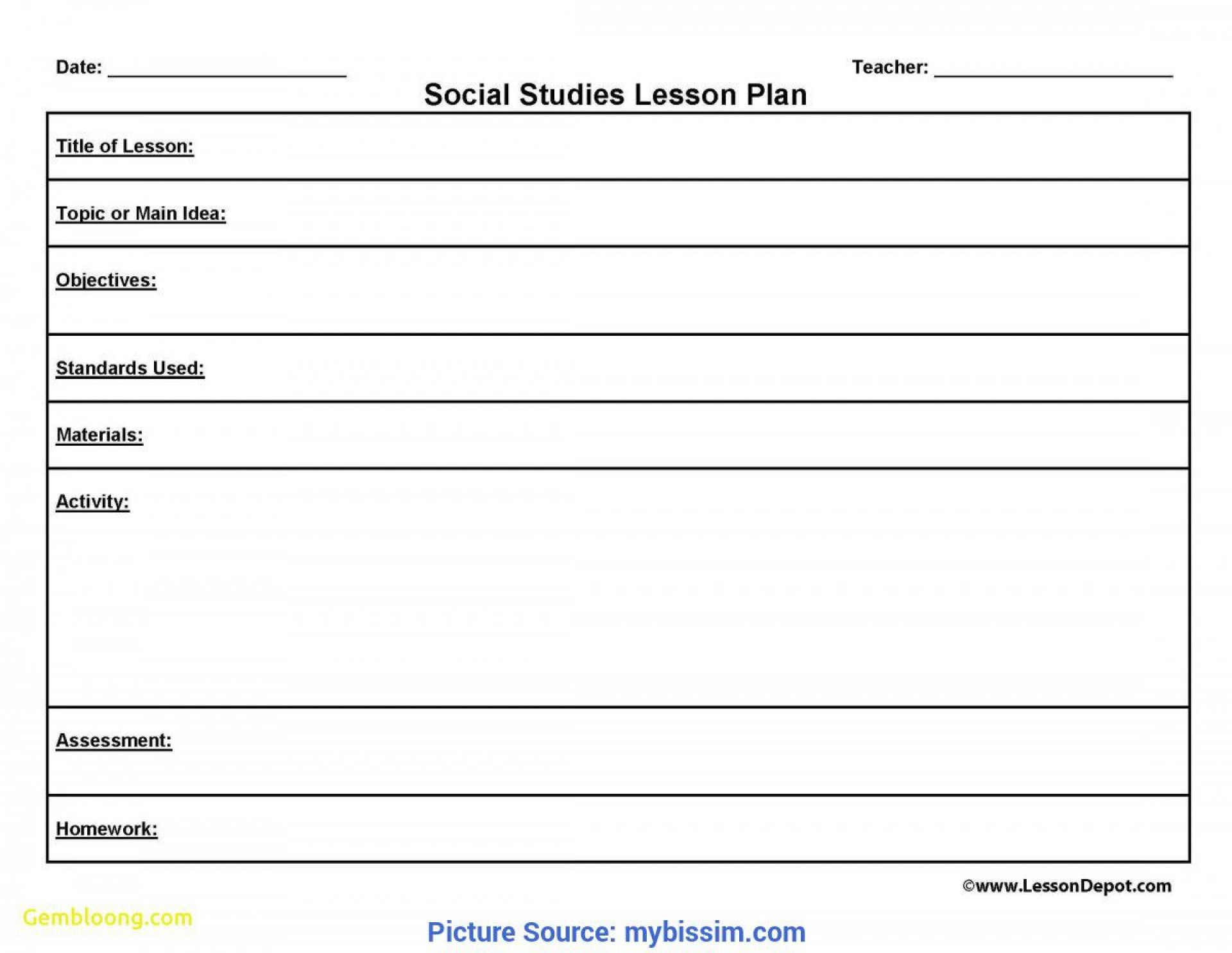002 Wondrou One Day Lesson Plan Template Sample  Example Format1920