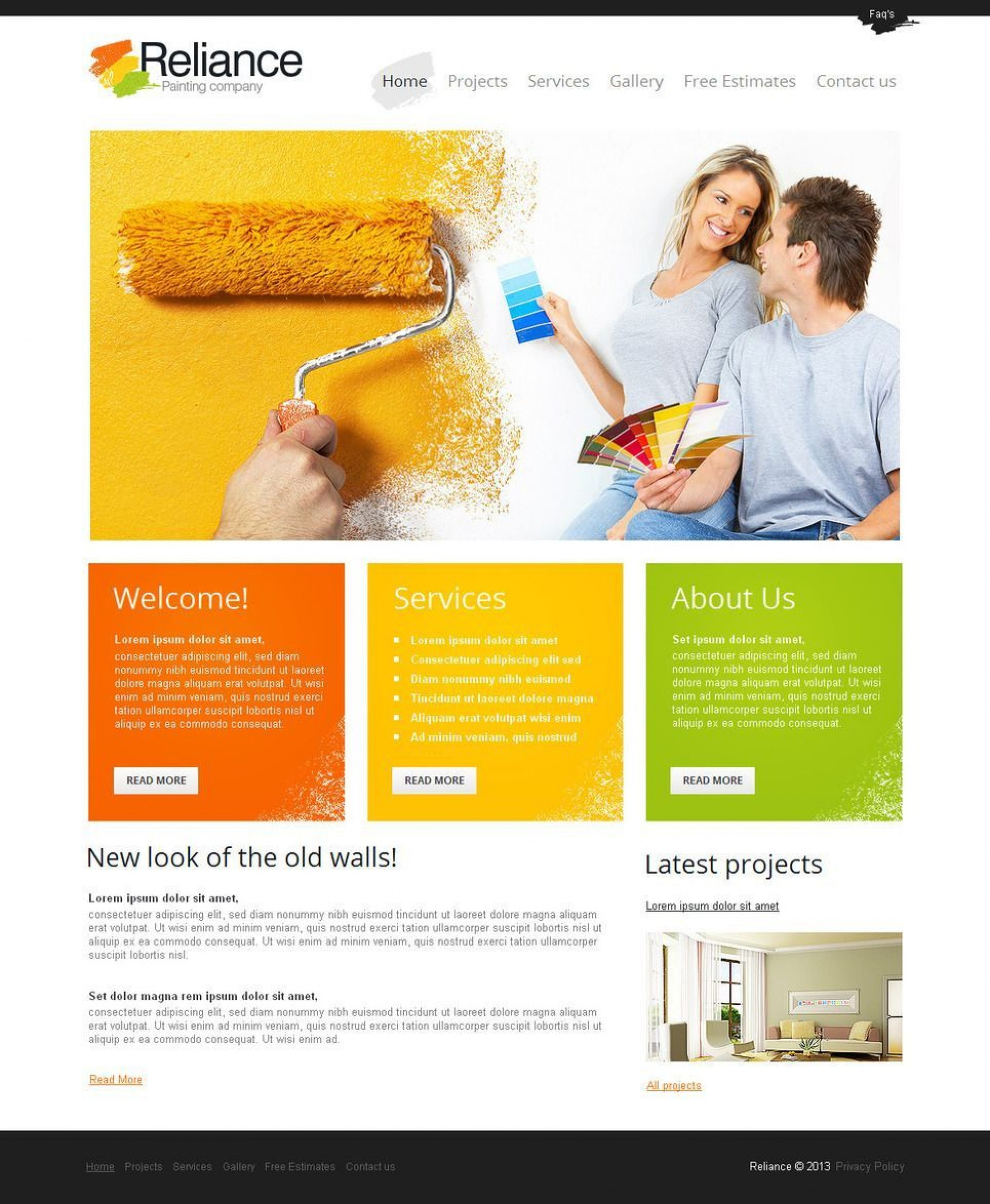 002 Wondrou Painting Website Html Template Free Download Picture 1920
