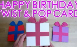 002 Wondrou Pop Up Card Template For Birthday Photo  Birthdays Free Download Pdf