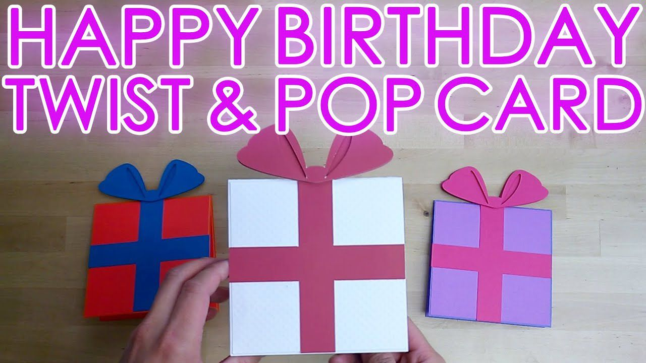 002 Wondrou Pop Up Card Template For Birthday Photo  Birthdays Free Download PdfFull