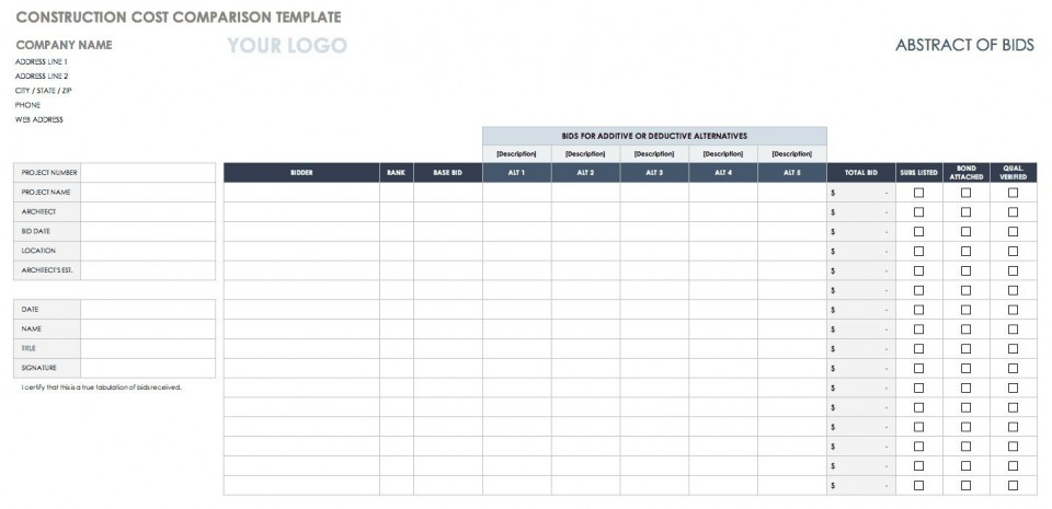 002 Wondrou Price Comparison Excel Template Inspiration  Free Download Competitor Vendor960