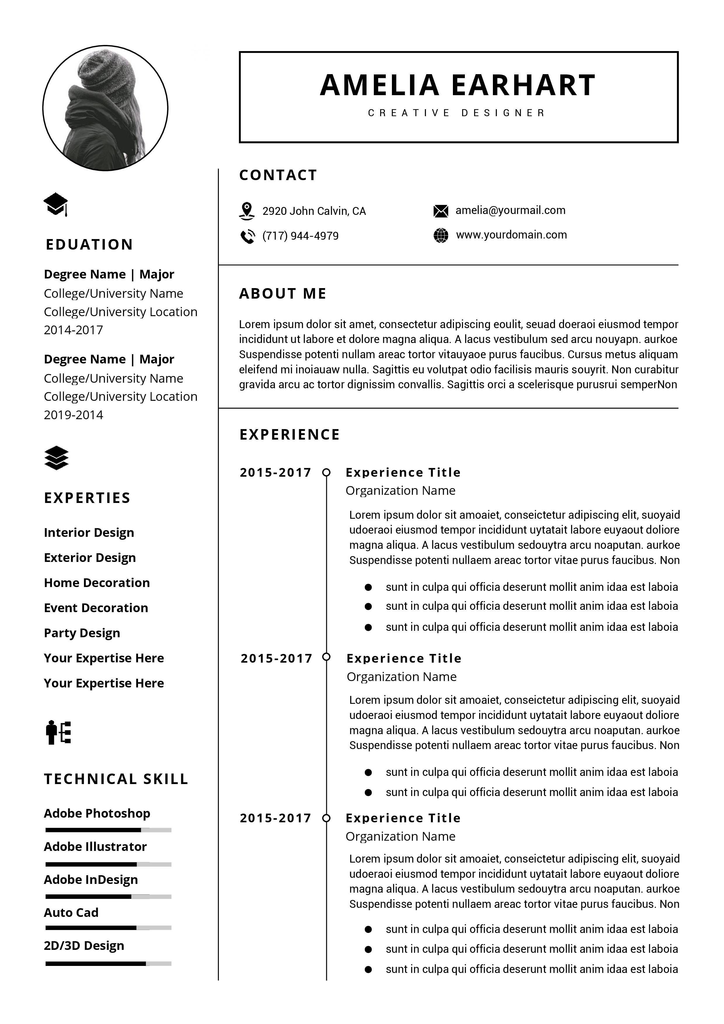 Resume Template Word Free Download 2017 Addictionary