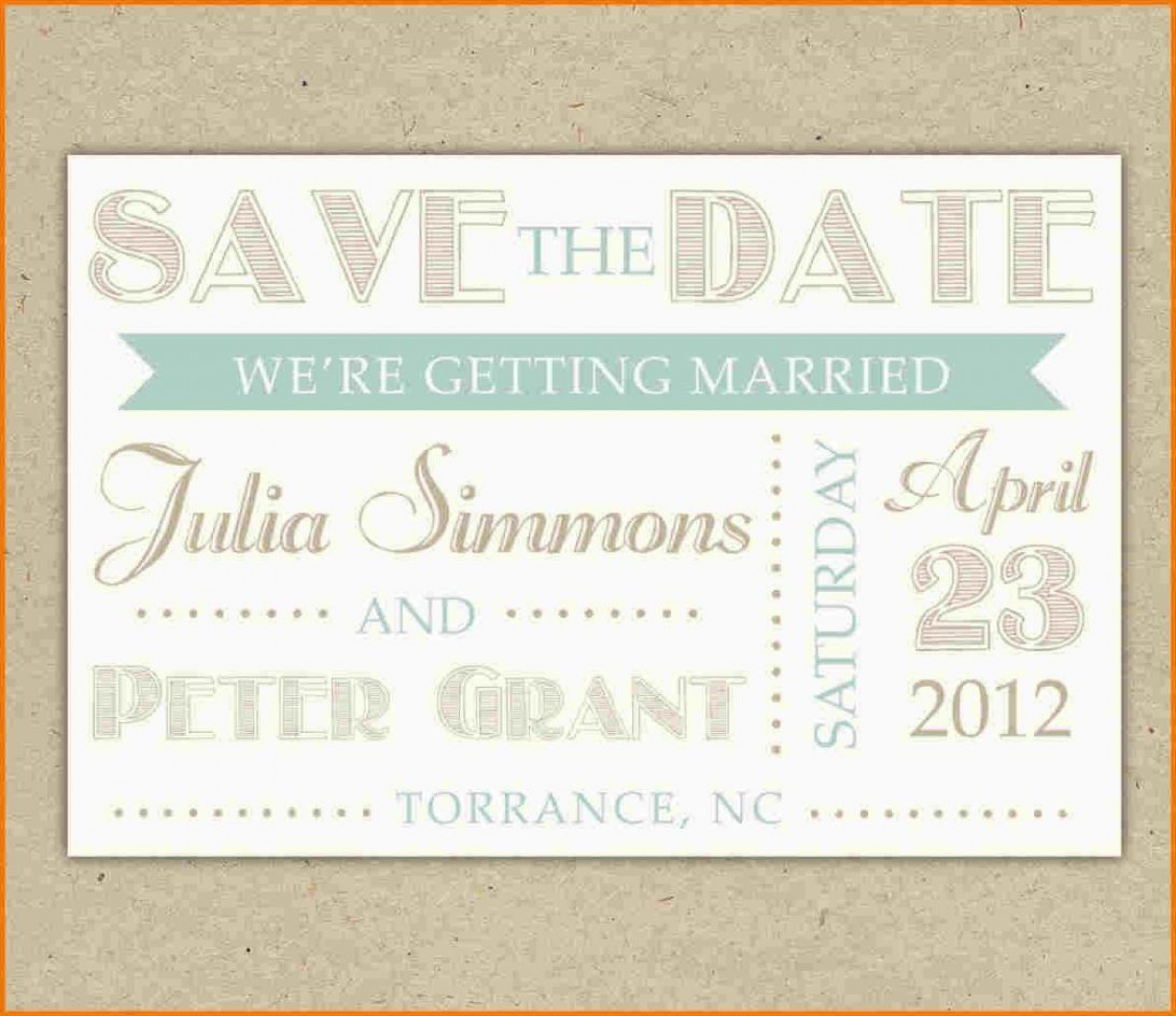 002 Wondrou Save The Date Template Word Inspiration  Free Customizable For Holiday Party1920