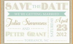 002 Wondrou Save The Date Template Word Inspiration  Free Customizable For Holiday Party