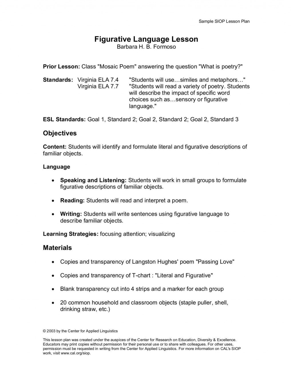 002 Wondrou Siop Lesson Plan Example First Grade Sample  1stLarge