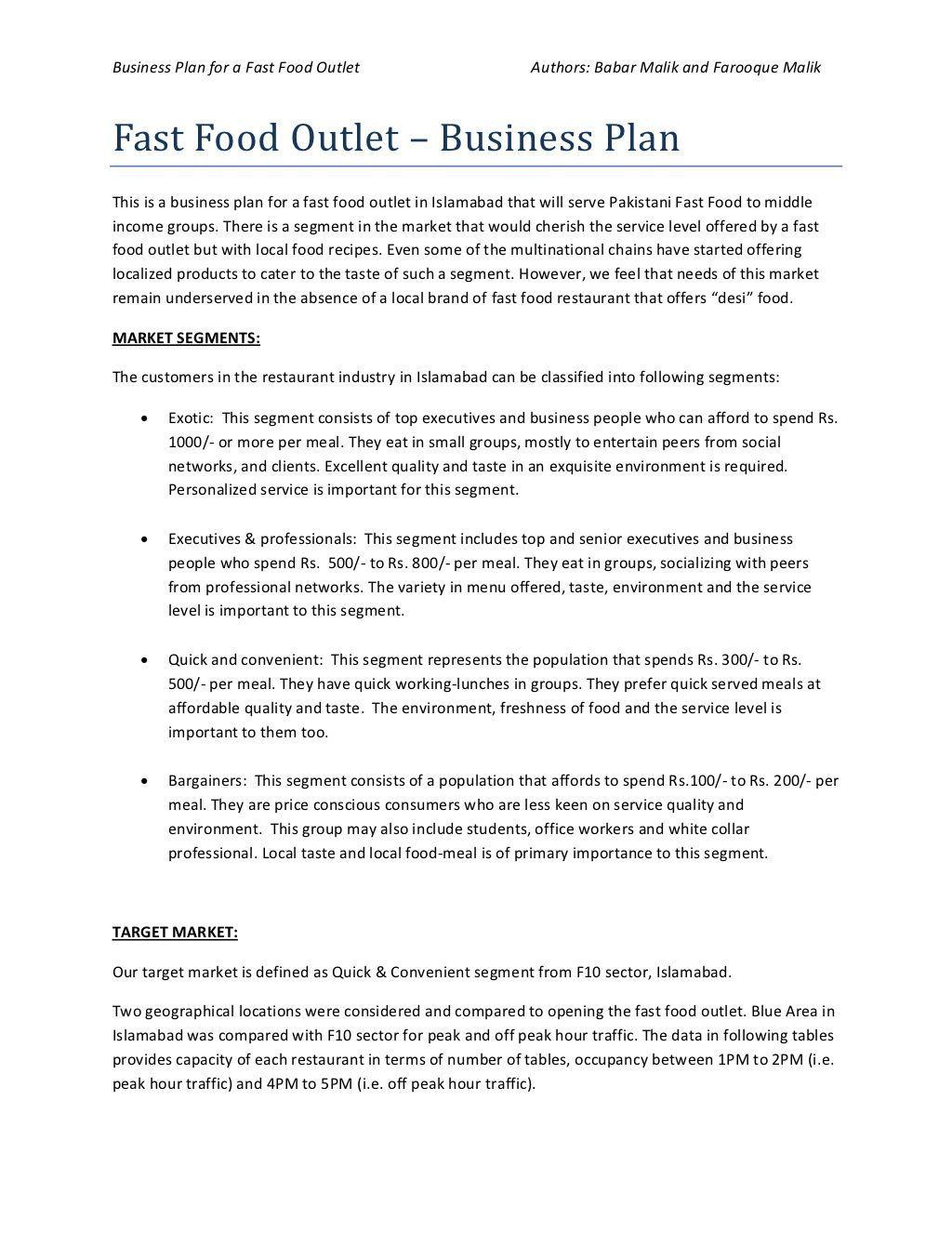 002 Wondrou Startup Restaurant Busines Plan Sample Pdf Inspiration Full