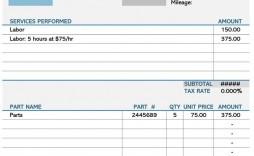003 Amazing Auto Repair Invoice Template Pdf Idea  Free Form Receipt