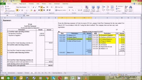 003 Amazing Cash Flow Statement Format Excel Free Download Idea  Indirect Method In Direct480