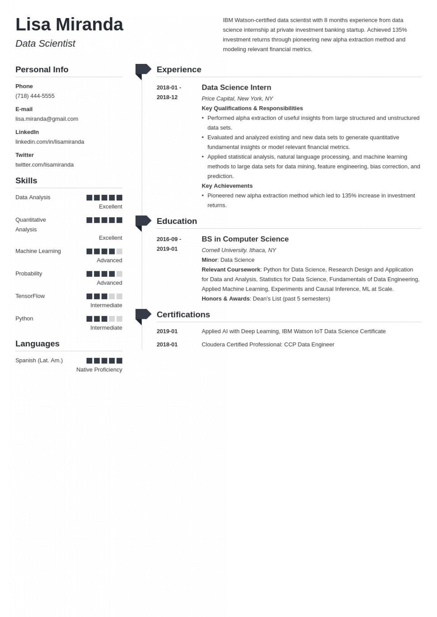 003 Amazing College Graduate Resume Template Design  Student Example 2020 New 20181400