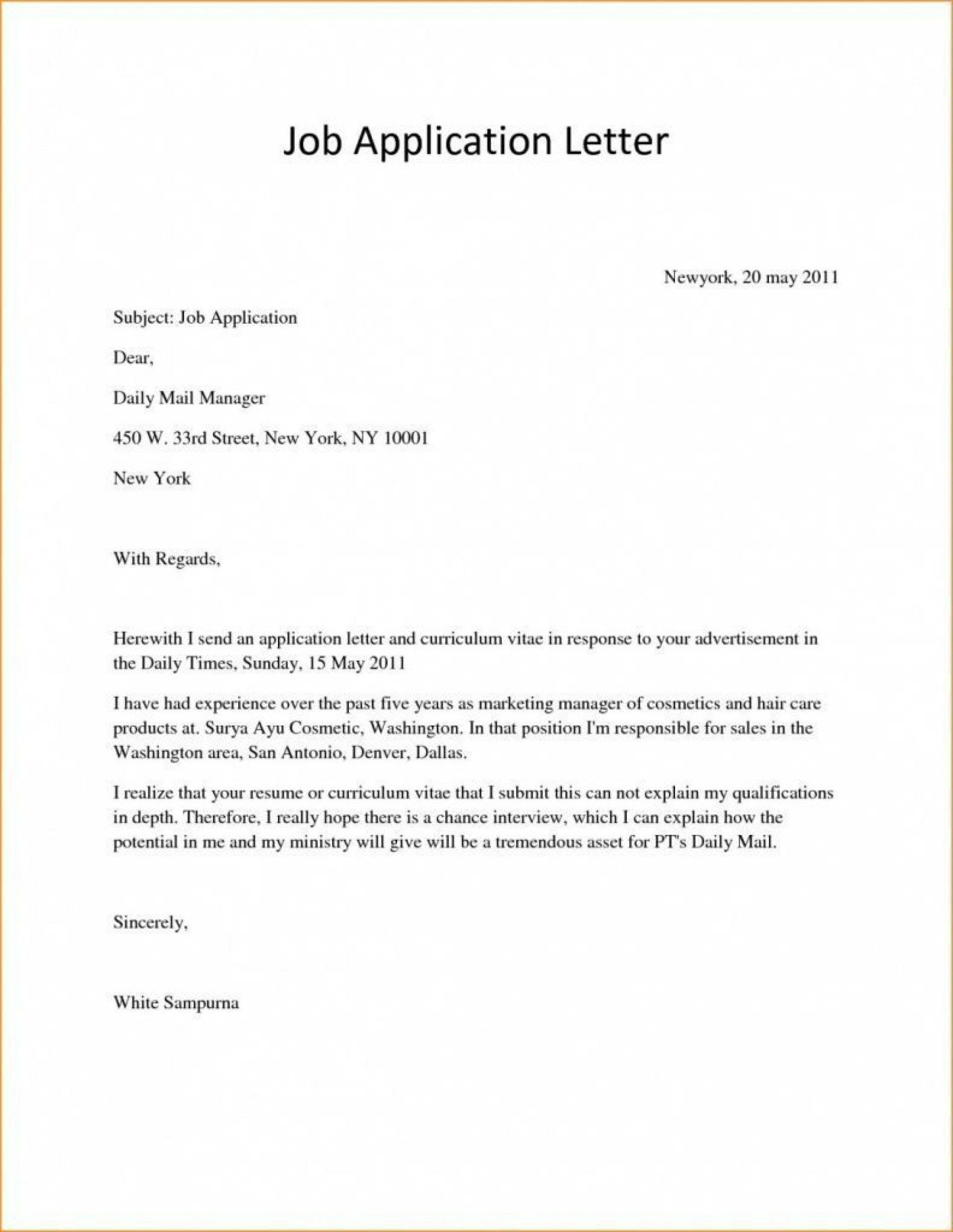 example of cover letter pdf